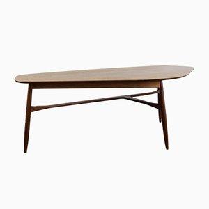 Kidney-Shaped Coffee Table in Teak by Svante Skogh