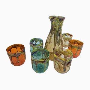 Handgefertigte Italienische Murano Gläser, 7er Set