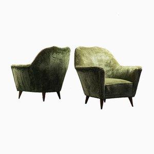 Vintage September Chairs in Velvet by Ico & Luisa Parisi, 1950s, Set of 2