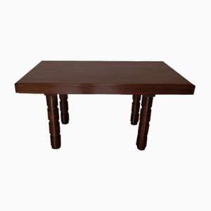 Art Deco Mahogany Dining Table by Francisque Chaleyssin