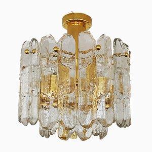 Austrian Ice Glass Ceiling Lamp by J. T. Kalmar for Franken KG, 1960s