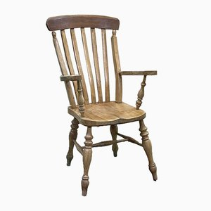English Blond Mahogany and Fir Armchair, 1950s