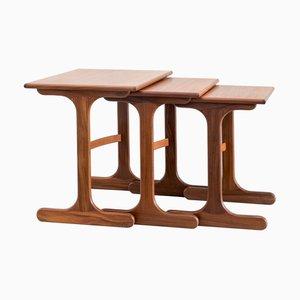 Tavoli ad incastro in teak di E. Gomme Ltd. / G Plan, set di 3