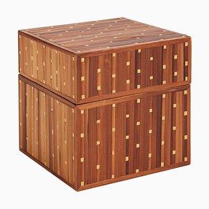 Art Deco Schachtel mit Marketerie aus Stroh