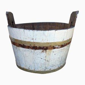Pre-War Industrial Wooden Barrel