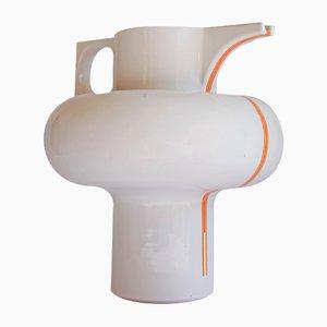 Orange Striped Ceramic Pitcher or Vase by Sergio Asti for Cedit, Italy, 1960s