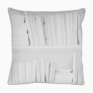 Weißes Bücherregal Kissen