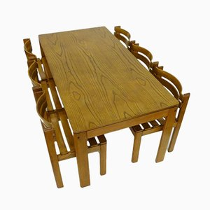 Dutch Elm Dining Set, 1970s