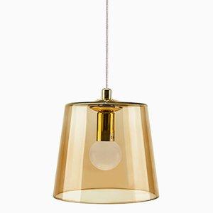 Bernsteinfarbene Lampe von Kiki