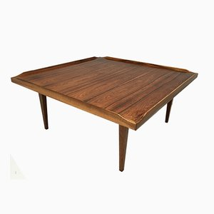 Square Danish Rosewood Coffee Table, 1960s