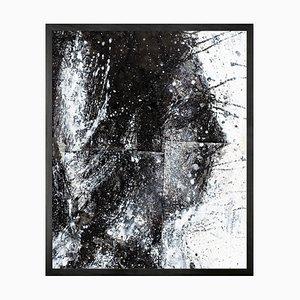 Head of George 2 Mini Framed Printed Canvas