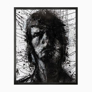 Head of Mike 1 Mini Framed Printed Canvas