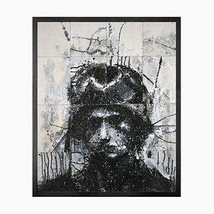Head of Mike 6 (V2) Mini Framed Printed Canvas