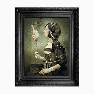 Kleiner Spiegel mit Spiegelglas ... Leinwand