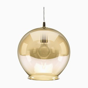 Cauldron Amber Tint Pendant Lamp