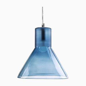Lampe à Suspension Entonnoir Bleu Clair