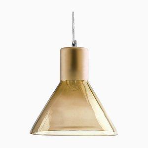 Lampe à Suspension Entonnoir Teint Ambre