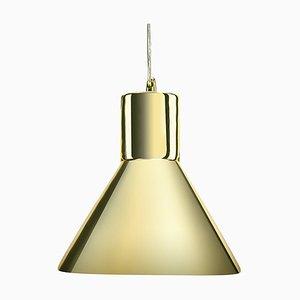 Lampe à Suspension Entonnoir Miroir Doré