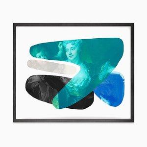 Blaue Form und Farbe