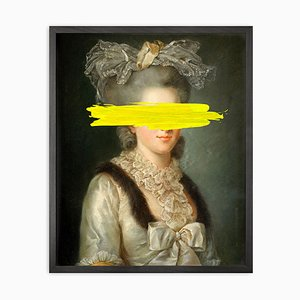 Lienzo impreso Yellow Mark Framed