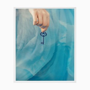 Small The Key Framed Printed Canvas