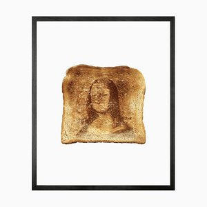 Kleines bedrucktes Mona Lisa Toast Papier Motiv