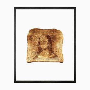 Small Mona Lisa Toast Framed Printed Canvas