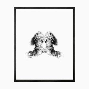 Petit Toile Imprimée Reflection of Anatomy Encadré