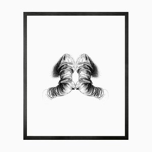 Small Reflection of Anatomy Framed Printed Canvas