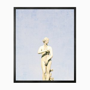 Small Statuesque 5 Framed Printed Canvas