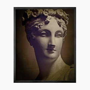 Small Statuesque 1 Framed Printed Canvas