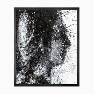 Small Head of George 2 Framed Printed Canvas