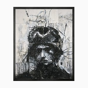 Small Head of Mike 6(v2) Framed Printed Canvas