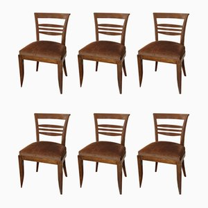Art Deco Chairs Attributed to Francisque Chaleyssin, Set of 6
