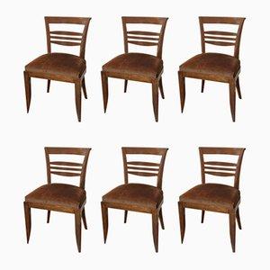 Art Deco Stühle von Francisque Chaleyssin, 6er Set