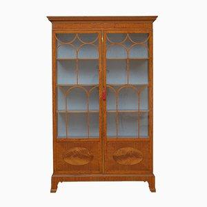 Edwardian Satinwood Display Cabinet