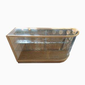 Vitrinenschränke aus Eiche mit Abgerundeten Gläsern, 2er Set