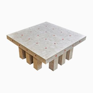 Vintage Architectural Marble Tile Coffee Table with 12 Legs in the Style of Ado Chale, 1960s
