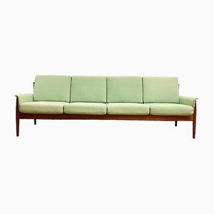 Mid-Century Modern 4-Seat Sofa in Teak by Grete Jalk for France & Son, Denmark, 1950