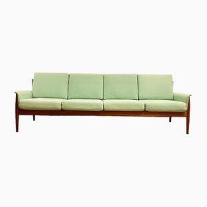 Mid-Century Modern 4-Sitz Sofa in Teak von Grete Jalk für France & Son, Denmark, 1950er