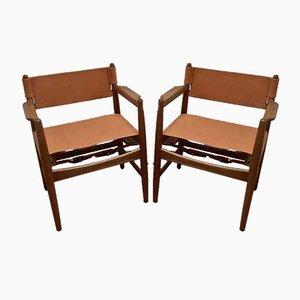 Stühle von Børge Mogensen, 2er Set