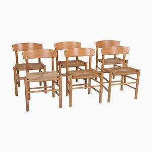 J39 Stühle von Børge Mogensen für FDB Denmark, 6er Set