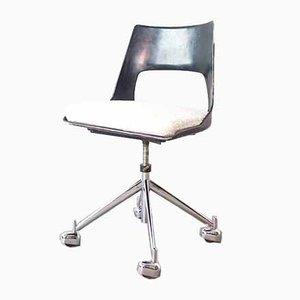 Mid-Century Danish KK-1A Swivel Chair by Kay Korbing for Fibrex Denmark, 1956