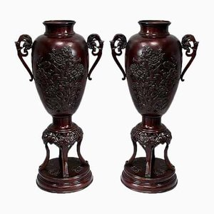Tall Vases in Bronze, China, Late 19th Century