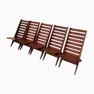 Chaises de Jardin Pliantes, 1970s, Set de 5