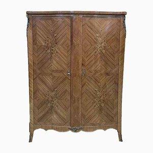 Louis XV Stil Kleiderschrank aus Amaranth und Veilchenholz, 1950er