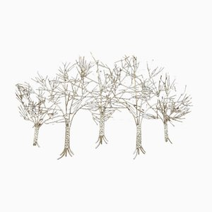 Wall Sconce Resembling 5 Trees by Curtis Jere, USA, 1970s