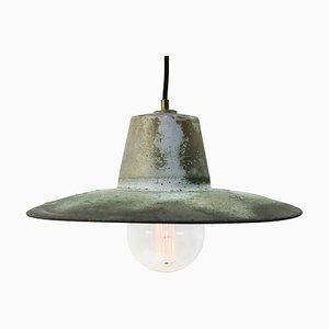 Vintage Industrial Green Copper Factory Pendant Lamp