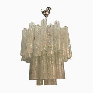 Mid-Century Murano Glasröhren Kronleuchter