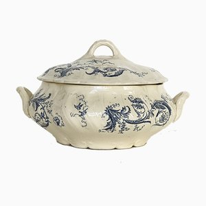 Soup Tureen in Opaque Porcelain from Gien, 1900s